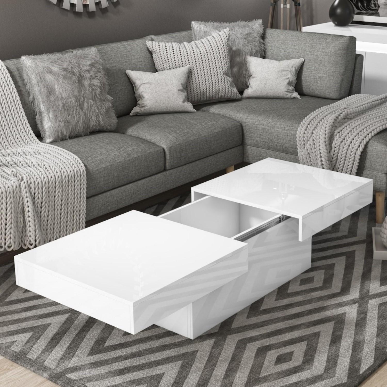 White Gloss Storage Coffee Table Rectangular Tiffany Tiff037 5056096020922 Ebay