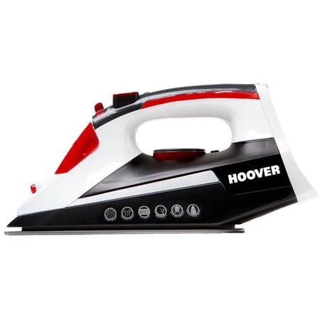 Hoover TIM2501C Ironjet Steam Iron Black White & Red