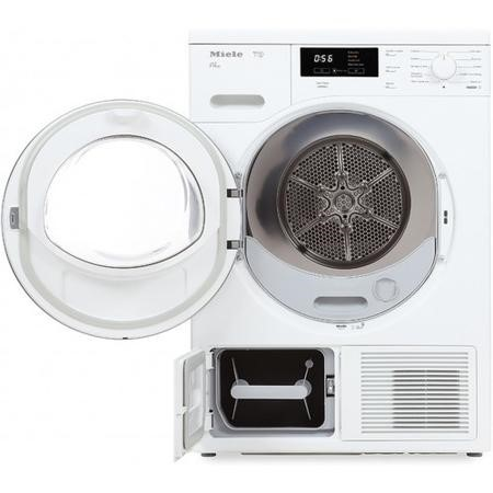 Miele TKB640WP T1 ChromeEdition 8kg Freestanding Heat Pump Tumble Dryer-White