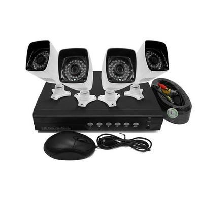 electriQ 4 Channel HD 1080p Digital Video Recorder with 4 x 720p Bullet Cameras - Hard Drive required