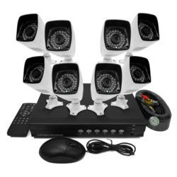 ElectriQ 8 CH AHD 1080p CCTV DVR 8 Bullet Cameras HD 720p Hard Drive required