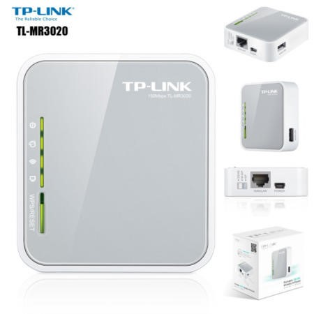 TP-Link TL-MR3020 N150 3G/4G Wireless Travel Router
