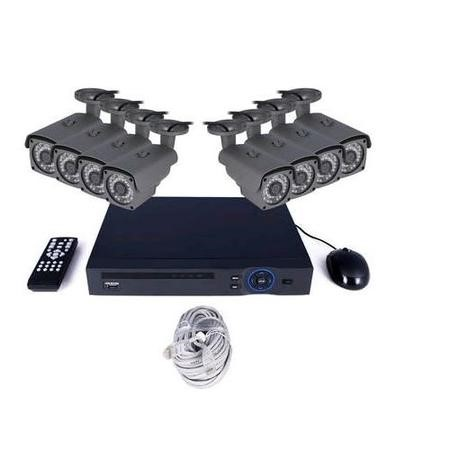 electriQ CCTV System - 8 Channel 1080p NVR with 8 x 1080p Bullet Cameras & 1TB HDD