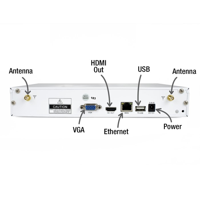 Electriq Wireless Cctv System 4 Channel 1080p Nvr With X Bullet Wiring Diagram Cameras Amp