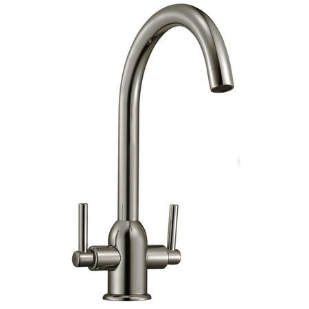 Taylor & Moore Dual Lever Kitchen Sink Mixer Tap - Brushed Chrome