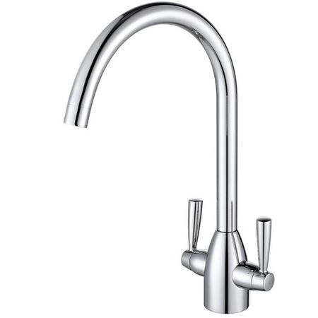Taylor & Moore Dual Lever Kitchen Sink Mixer Tap - Polished Chrome