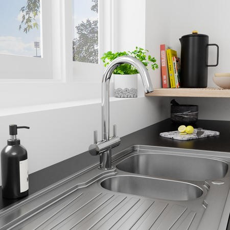 Taylor & Moore Dual Lever Kitchen Sink Mixer Tap