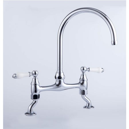 Taylor & Moore TMT038 Dual Lever Victorian Kitchen Mixer Tap