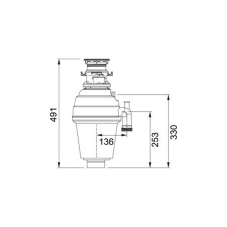 Franke TP-125B 1.25 Horsepower Batch Feed Turbo Waste
