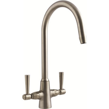 Astracast TP0414 Jordan Twin Lever Dual Flow Tap - Brushed Steel