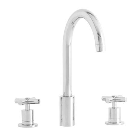 Astracast TP0425 Ocean 3-piece Twin Dial Single Flow Tap - Chrome