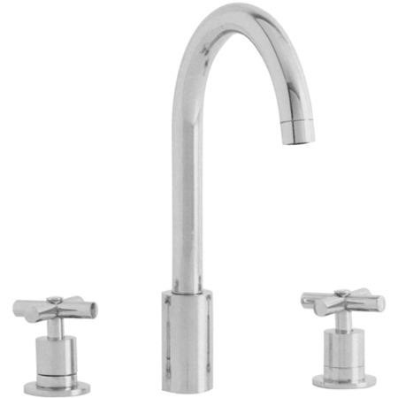 Astracast TP0752 Ocean 3-piece Twin Dial Single Flow Tap - Brushed Steel