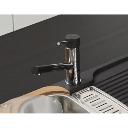 Astracast TP0763 Ariel Single Lever Mixer Tap in Chrome & Black