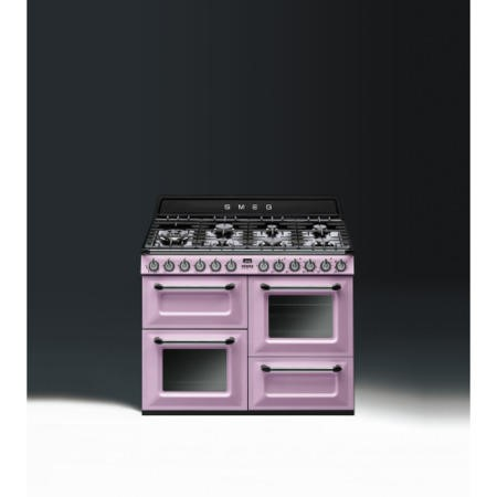 Smeg TR4110RO Victoria Traditional 110cm Dual Fuel Range Cooker - Pink