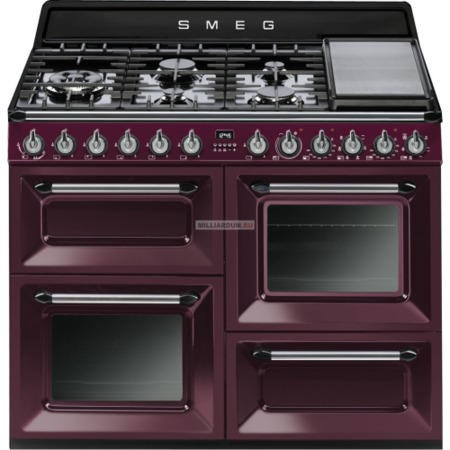 Smeg TR4110RW1 Victoria Traditional 110cm Dual Fuel Range Cooker Red Wine