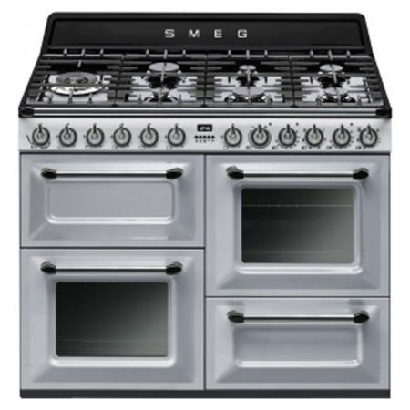 Smeg TR4110S1 Victoria Traditional 110cm Dual Fuel Range Cooker Silver