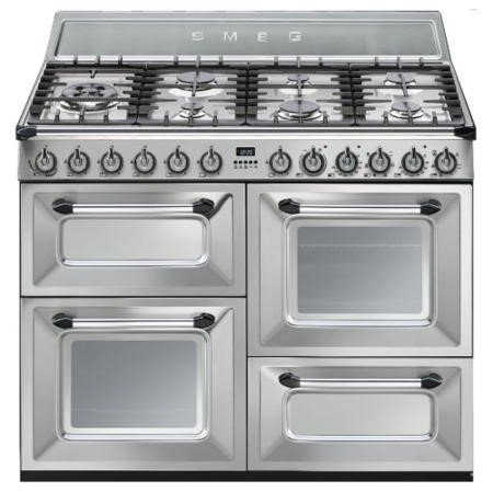 Smeg TR4110X Victoria Traditional 110cm Dual Fuel Range Cooker Stainless Steel