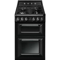 Smeg TR62BL Victoria 60cm Double Oven Dual Fuel Cooker - Black