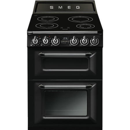 Smeg TR62IBL Victoria 60cm  Double Oven Electric Cooker With Induction Hob - Black