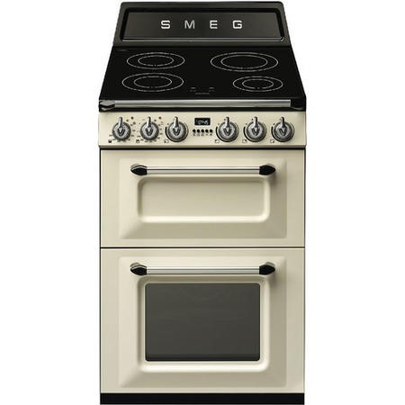 Smeg TR62IP Victoria 60cm  Double Oven Electric Cooker With Induction Hob - Cream
