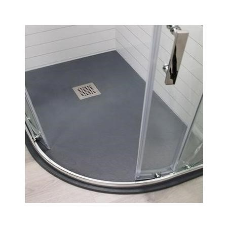 Claristone Anthracite Slate Effect Right Hand Quadrant Shower Tray & Waste - 1200 x 900mm