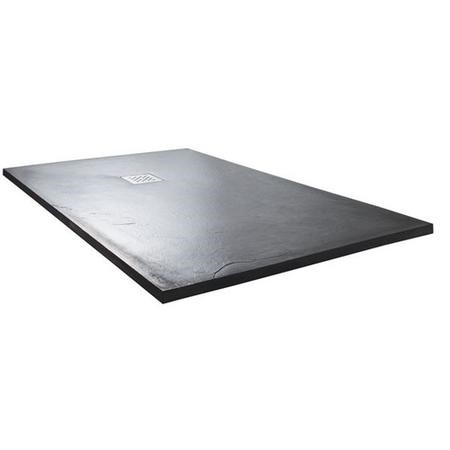 Claristone Anthracite Slate Effect Shower Tray & Waste - 1400 x 800mm