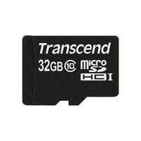 Transcend 32GB MicroSDHC Flash Card with Adaptor Class 10