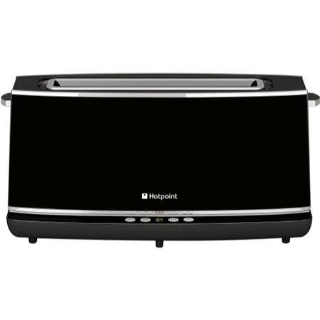 Hotpoint Tt12eab0 Long Slot Digital Toaster Black