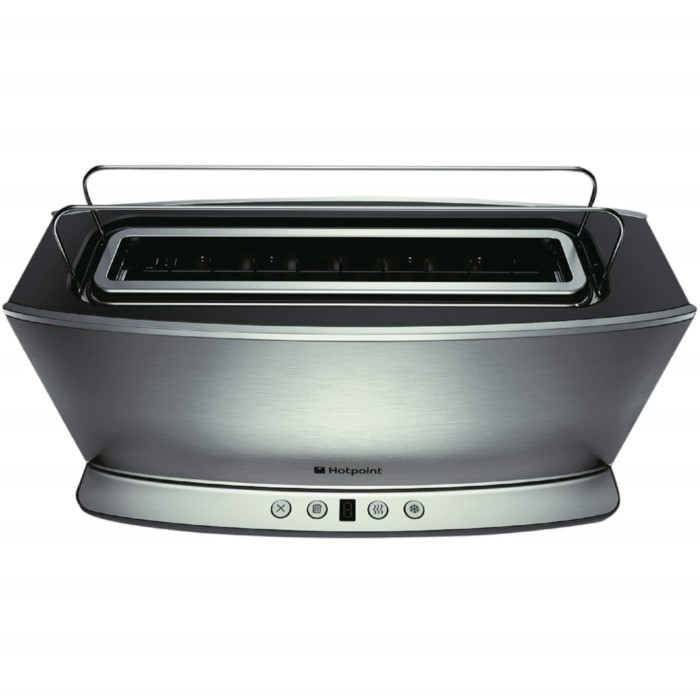 Hotpoint Tt12eax0 Long Slot Digital Toaster Stainless