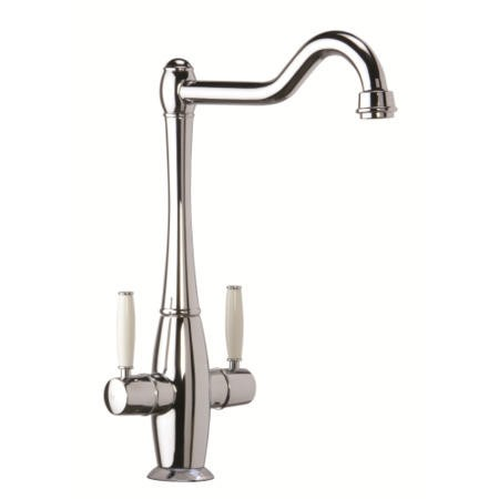CDA TT50CH Dual Level Traditional Monobloc Tap White Handles