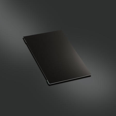 Smeg TVN 24cm Wide Reversible Black Glass And Stainless Steel Chopping Board