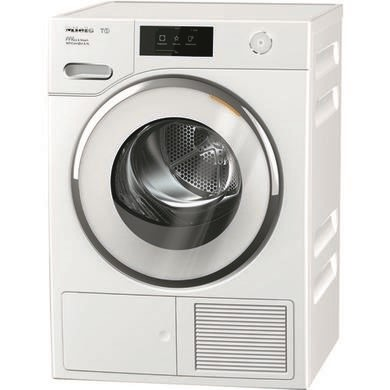 Miele TWR860WP 9kg Freestanding Heat Pump Tumble Dryer With Steam And WiFiConnect - White
