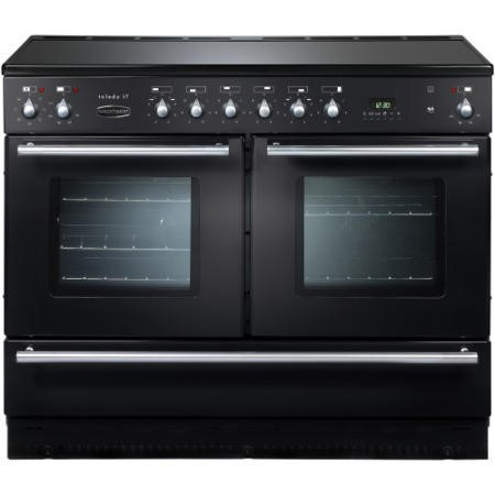 Rangemaster 77260 Toledo XT 110cm Electric Range Cooker With Ceramic Hob - Gloss Black
