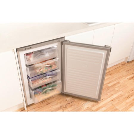 Indesit TZAA10S 55cm Wide Freestanding Upright Under Counter Freezer - Silver