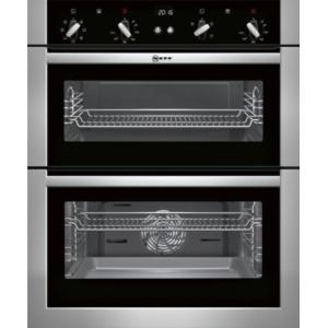 Neff U17M42N5GB Multifunction Built-under Double Oven Stainless Steel