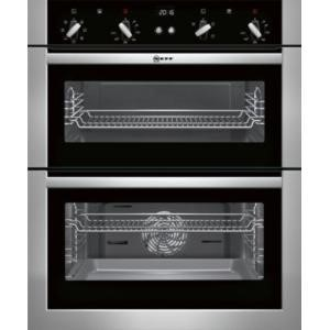 GRADE A1 - Neff U17M42N5GB Multifunction Built-under Double Oven Stainless Steel