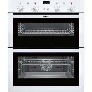 Neff U17M42W5GB Multifunction Built-under Double Oven White