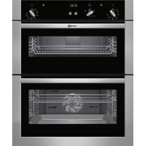 Neff U17S32N5GB Built-under Fan Double Oven Stainless Steel