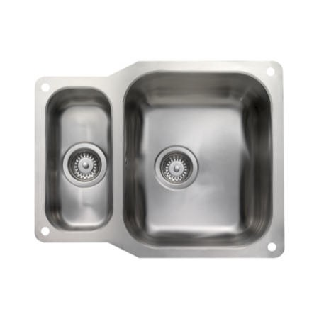 Rangemaster UB3515 Classic Undermount 350x420 156x342 1.5 Bowl Reversible Stainless Steel Sink