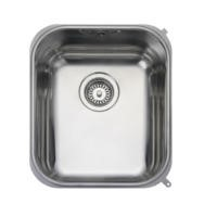 Rangemaster UB35 Classic Undermount 350x420 1.0 Bowl Reversible Stainless Steel Sink