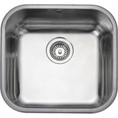 UB40 Rangemaster UB40 Classic Undermount 400x420 1.0 Bowl Reversible Stainless Steel Sink