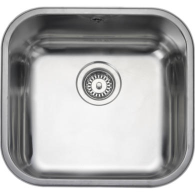Rangemaster UB40 Classic Undermount 400x420 1.0 Bowl Reversible Stainless Steel Sink