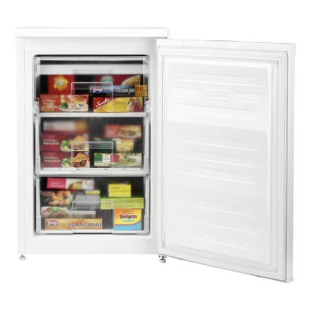 Beko UFF584APW 55cm Wide Frost Free Freestanding Upright Under Counter Freezer - White
