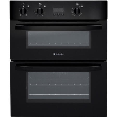 Hotpoint UH53KS Electric Built Under Double Oven Black