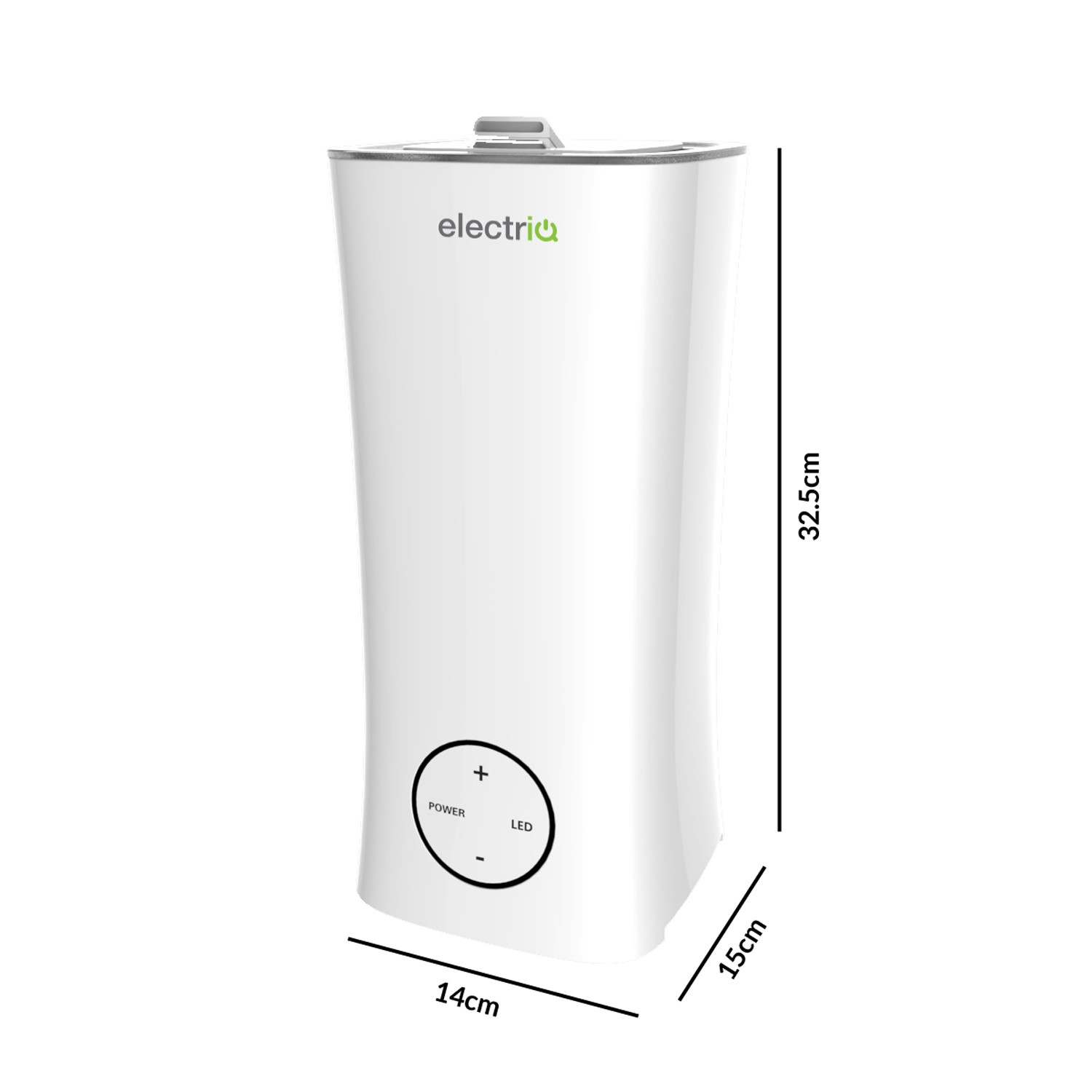 electriQ 2L Cool Mist Humidifier and Aroma Diffuser with Ambient Light and up to 10 hours continuous use