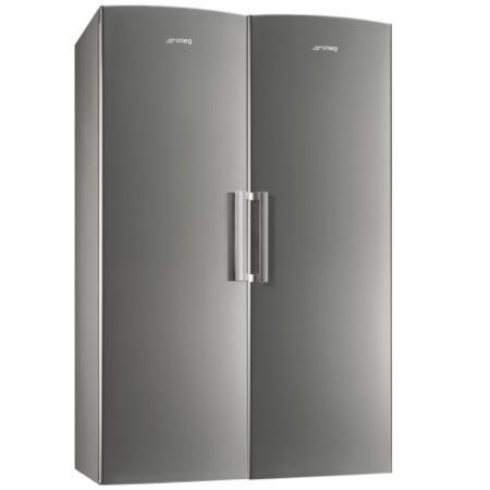 Smeg UK26PXNF3 NoFrost Freestanding Freezer - Stainless Steel Effect