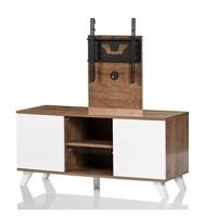 UK-CF Mardrid Oak White TV Stand for screens up to 52