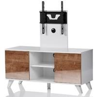 UK-CF Madrid White Oak TV Stand with TV Bracket for up to 52