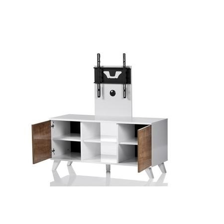 "UK-CF Madrid White Oak TV Stand with TV Bracket for up to 52"" TVs"