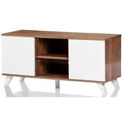 UK-CF Seville Oak White TV Stand for screens up to 52""